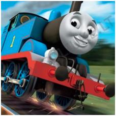 Vaikiški tapetai Traukinukas Tomas