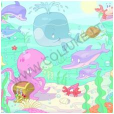 Vaikiški tapetai Baby under the Sea