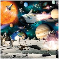 Vaikiški tapetai  Nuotykiai kosmose